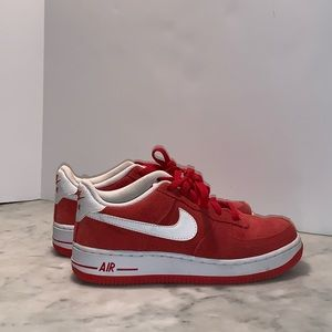 Red Suede Nike Air Force 1